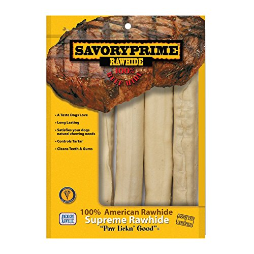 Savory Prime 10-Inch Supreme Retriever Roll White, 4 Pack (Rolls Beef Savory)