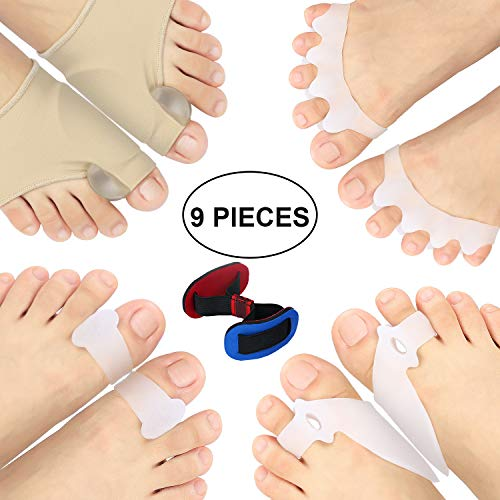 【Christmas Selection】Bunion Corrector Protector Sleeves Kit for Cure Pain in Big Toe Joint, Tailors Bunion, Hallux Valgus, Hammer Toe, Toe Separators Spacers Straighteners Splint Aid Surgery