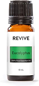 Revive Essential Oils Eucalyptus 10 ml -100% Pure Therapeutic Grade, for Diffuser, Humidifier, Massage, Aromatherapy, Skin & Hair Care - Cruelty Free - Unrefined Oils with No Fillers