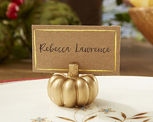 Kate Aspen 102 Resin Gold Pumpkin Place Card Holder Wedding Thank-You Gifts Baby Bridal Shower Table Décor Decorations Party Souvenir Favors by Kate Aspen (Image #2)
