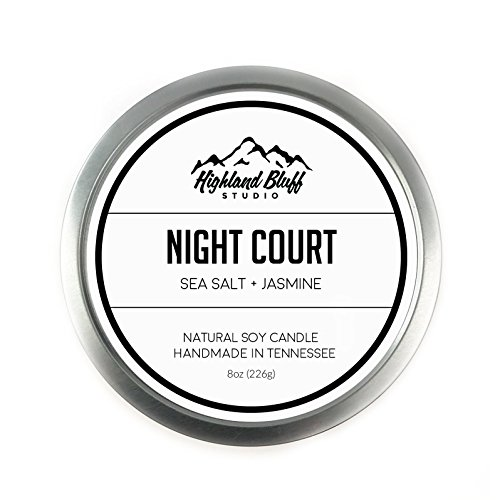 Night Court - 8oz Soy Candle - Ocean Breeze and Jasmine