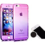 TheTransporter Slim 360 degree Protective Shockproof Front and Back Full Body TPU Silicone Gel Case Cover For Apple iPhone 5C Pink / Purple