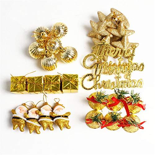 wordmo - Juego de Adornos de Bola de 28 CT para decoración navideña o árbol de Navidad, Dorado