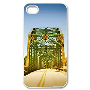 Yearinspace Bridge IPhone 4/4s Cases Coosa River Bridge Alabama Cute For Girls, Cute Iphone 4 Cases For Teen Girls, {White} by ruishername