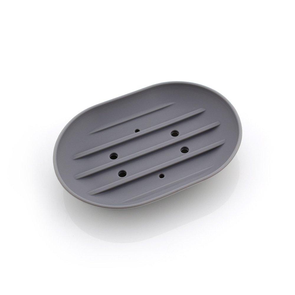 Ruihcury Seifenablage aus aus aus Silikon, Silikon, grau, 11.3  7.8  2cm B07H7ZNB1L Halter & Spender 45fdc6