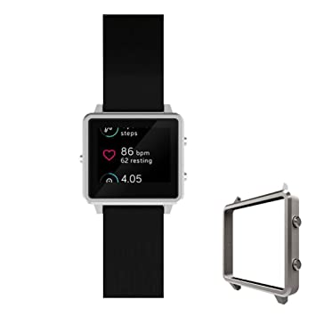 TopTen Fitbit Blaze reloj banda reemplazo muñeca correa de piel auténtica, bandas de deporte ajustable