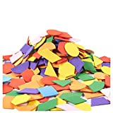 Juvale Foam Stickers - 1000-Pack Self-Adhesive EVA Foam Stickers for DIY Crafts, School Projects, Decorations, Geometric Shapes, Multi-Colored