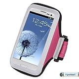 Premium Sport Armband Case for LG G4, C40 (Leon)/H320, LS885 (G3 Vigor), G3, VS450PP (Optimus Exceed 2), VS876 (Lucid 3), D415 (Optimus L90), LS740 (Volt), MS323 (Optimus L70), D820 (Nexus 5), MS500 (Optimus F6), VS980 (G2), D800 (G2) - Pink + MYNETDEALS Mini Touch Screen Stylus