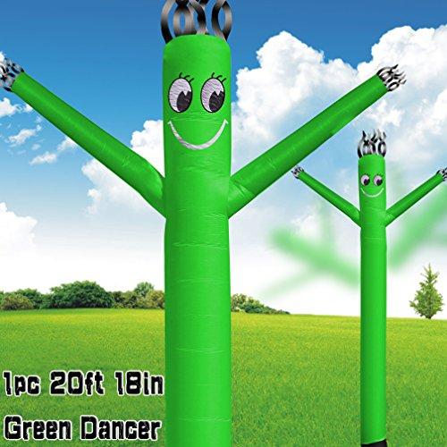 MOUNTO 20ft 18inch Fly Puppet Dancer Tube Man Fly Guy Puppet Dancer (Green) ()