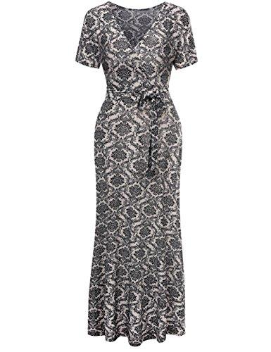 Buy black white print dress - 7