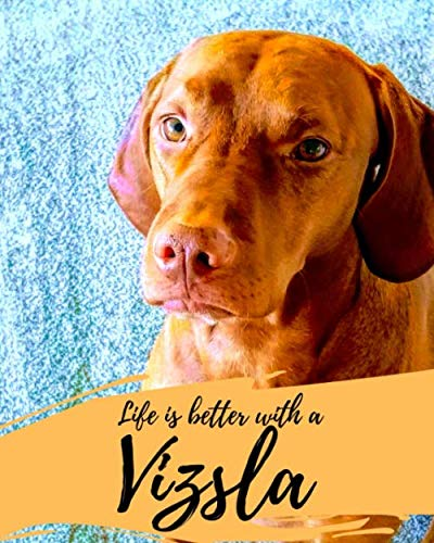 Life-is-Better-with-a-Vizsla-Gift-for-Vizsla-Lovers-and-Dog-Owners-Vizsla-Journal-College-Ruled-Diary-100-pages