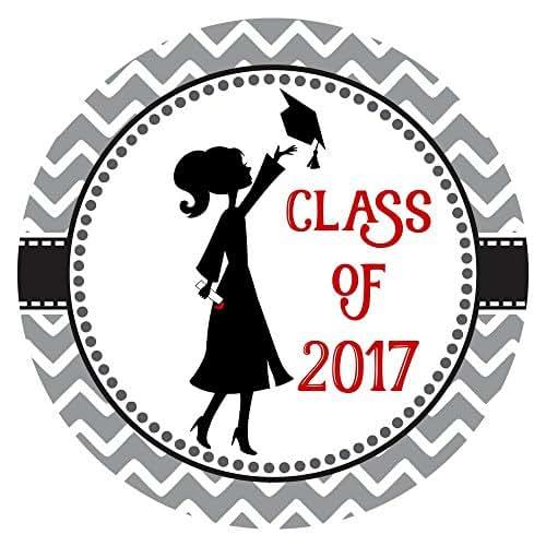 Amazon.com: Class of 2017 Graduation Sticker Labels - Set of 30