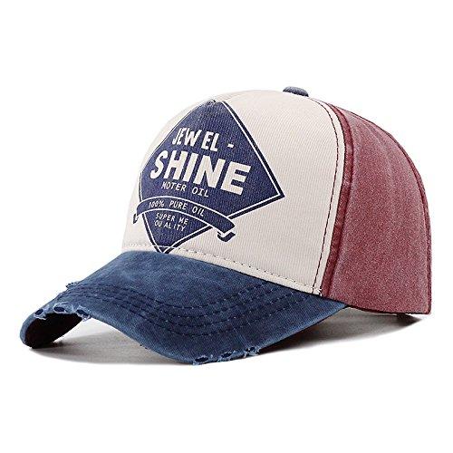 Meaeo Gorra De Béisbol Retro Mujeres Moliendo Patchwork Baseball Hat Hombres Hip Hop Snapback Hat Tapón De Algodón Unisex