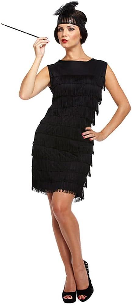 Flapper Girl Fancy Dress Costume (Black)