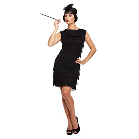 detailed look 977d4 87572 Costume Fancy Dress Flapper Girl Anni 30 (Nero)