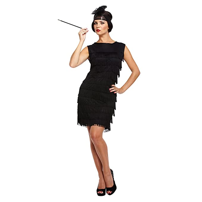 Flapper Girl Fancy Dress Costume (Black)