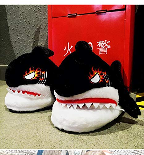 Black 43house Indoor Women Men And Winter Slippers Cotton Wall onshark amp; Plush Slip Night Outdoor Shoes Comfortable 6FgUWO4R