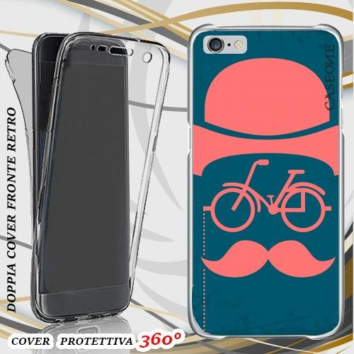 CUSTODIA COVER CASE CYCLE BAFFI PER IPHONE 6 PLUS FRONT BACK