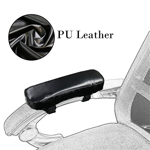 Memory Foam Chair Armrest Pad - Ergonomic Design of Office Chair Arm Rest Cover for Elbows and Forearms Pressure Relief