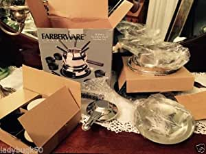 Farberware Commercial 19 Pc Stainless Steel Fondue Set
