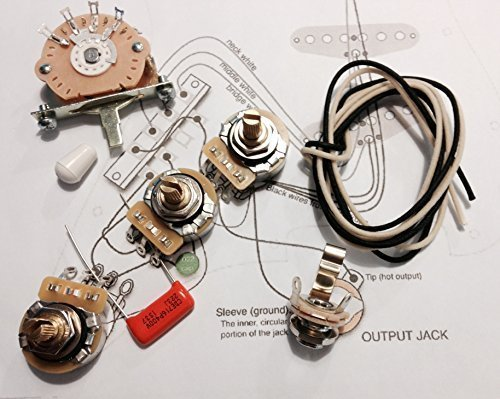 Deluxe Wiring Kit for Fender Strat - .022 Orange Drop Cap - Stratocaster -
