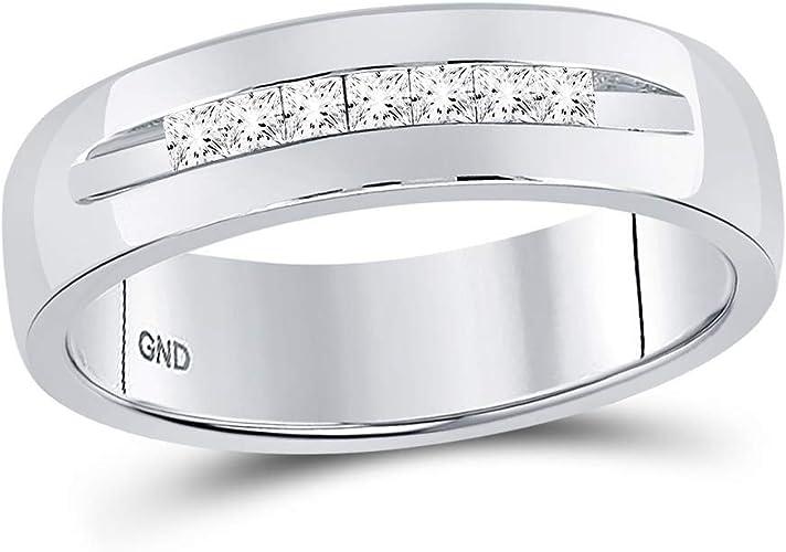 Sonia Jewels Titanium 6mm Brushed and Polished Wedding Band