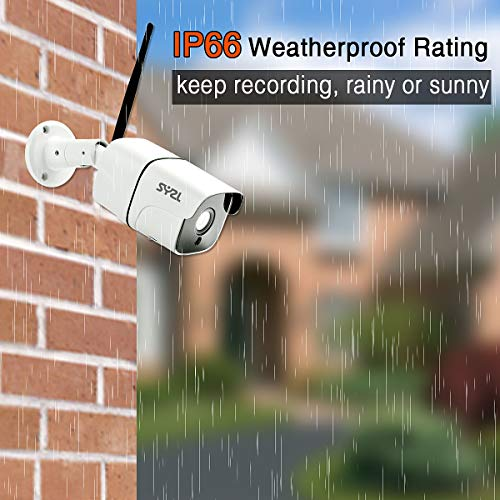 SY2L 5MP HD Wireless Outdoor Indoor Security Camera,Two-Way Audio, Home Video WIFI Night Vision Surveillance Bullet Camera, 2560 x1920 IP66 Weatherproof, H.265 Motion Detection IP Camera,Support Onvif