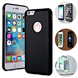 iPhone 7 case iPhone 8 case Anti Gravity, Nano-Absorption Technology Stick to Smooth Flat Surface Such as Glass, Wood, Marble, Whiteboards. (Compatible for 4.7 inches iPhone 7/8 - Black) ...