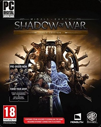 Middle-earth: Shadow of War Gold Edition [PC Code - Steam] Boxed UK Version (Middle Earth Shadow Of War Pc Gold Edition)