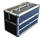 Black Pro Makeup Train Case Organizer with Bottom Drawer Store n Carrying Box