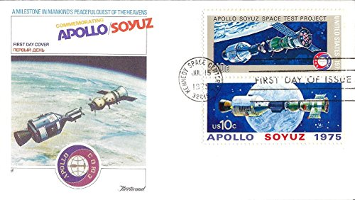 USA First Day Cover 1975 Apollo/Soyuz Space Test Project 10 Cents Sc# 1569 and Sc# 1570