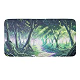 CIGOCI Extra Absorbent, Soft, Duarable AndAnti-Slip Memory Foam Toilet-Shower Mat - 18 x 36 Inch,Extra Absorbent,Soft,Duarable and Quick-Dry Shaggy Rugs, 3D PrintSunlight Through The Woods