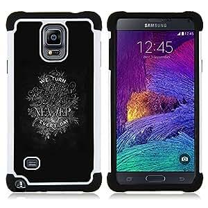 For Samsung Galaxy Note 4 SM-N910 N910 - NEWER INSPIRING MOTIVATIONAL TEXT Dual Layer caso de Shell HUELGA Impacto pata de cabra con im??genes gr??ficas Steam - Funny Shop -
