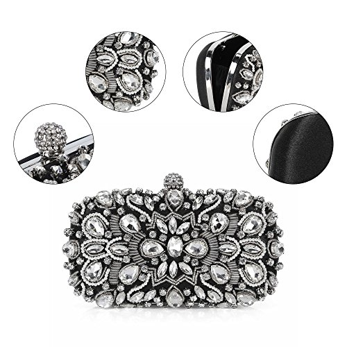 Hard Wedding Clubs Handbags Clutches Dinner Black1 for Apricot1 Shell Pures Diamond Beading Ladies Evening Bags Parties Twa00R