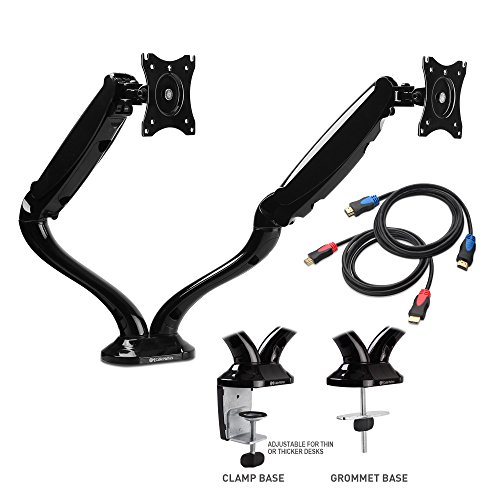 Adjustable Dual Monitor Mount with 4K HDMI Cables (Dual Mount Adapter)