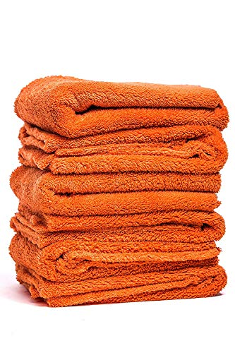 Armour Car Care Microfiber Towels Pack of 6 - Thick Absorbent Drying Towels, Professional Grade and Scratch Free,16 x 16 inches