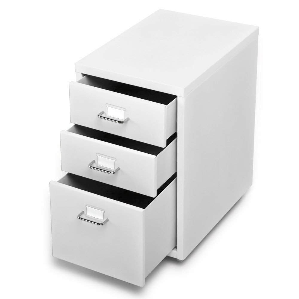 Amazon.com: IKAYAA Office Metal File Cabinet 3 Drawer Detachable ...
