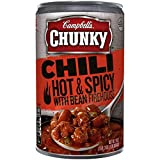chili canned - Campbell's Chunky Chili, Hot & Spicy Beef & Bean Firehouse, 19 Ounce (Packaging May Vary)