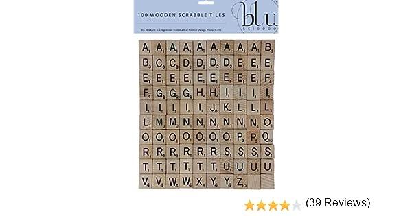 Set de 100 Letras de Madera para Scrabble: Amazon.es: Juguetes y juegos
