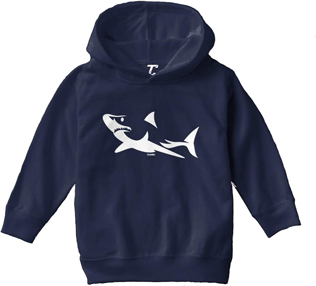 Shark Silhouette - Stylized Great White Toddler/Youth Fleece Hoodie