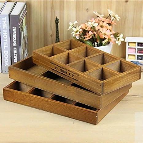 Astra Gourmet - Caja de madera multifunción con 12 compartimentos, ideal para el escritorio o un cajón, para organizar material de manualidades, flores, ...