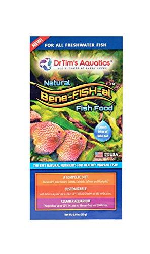 - Dr. Tim's Aquatics Bene-FISH-al  Freshwater Fish Food (Single Pack), Protein + Vitamins + Probiotics + Grain & Gluten-Free