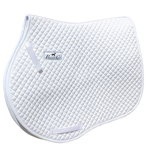 Pro Choice Saddle Pad Gina Miles Dressage Quilted Square White GMSP200