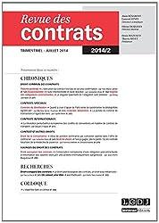 Revue des contrats, N° 2, juillet 2014 :