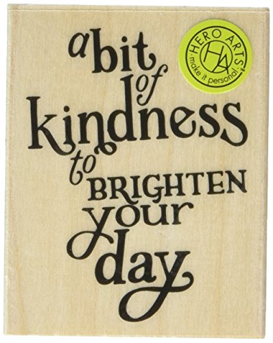 "Hero Arts G6120 Mounted Rubber Stamp, 2.5"" x 2"", A Bit Of Kindness, Red"