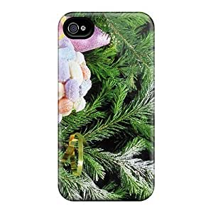 Hard Plastic Iphone 4/4s Case Back Cover,hot Holidays Christmas Tree Case At Perfect Diy