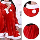 ALIZIWAY Child Girls Christmas Santa Costume Red Velvet Dress with Santa Hat and Belt Y021B