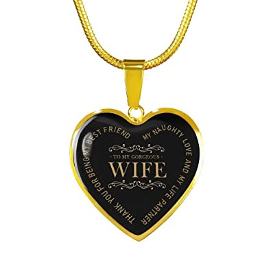 Amazoncom Wife Thank You For Being My Friend Quotes Heart Pendant