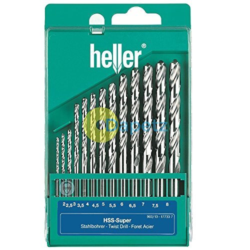 Dapetz ® Heller 13 Piece HSS-G Super Twist Drill Bit Set 2mm - 8mm Ground German Made High Quality