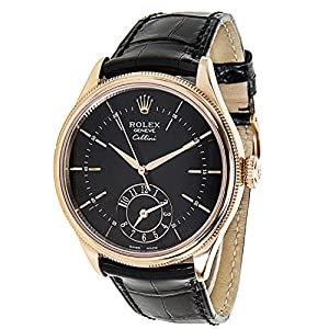 Rolex Cellini 50525 Multiple Time Zone Men's Watch in 18k Rose Gold (Certified Pre-owned)